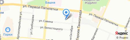 Коллегия адвокатов Тракторозаводского района на карте Челябинска