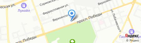 Электрометаллург на карте Челябинска