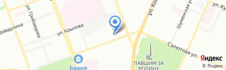 Средняя общеобразовательная школа №38 на карте Челябинска