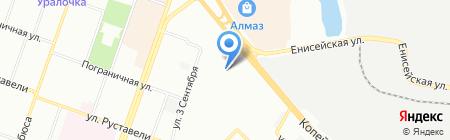 Казачок на карте Челябинска