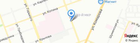 Радуга на карте Челябинска