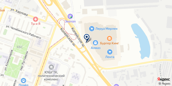 В подарок на карте Челябинске