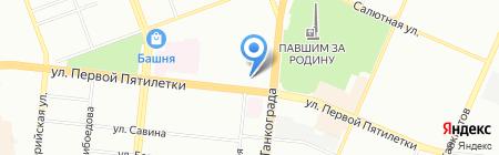 Кокос на карте Челябинска