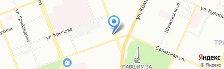 Луиза на карте Челябинска