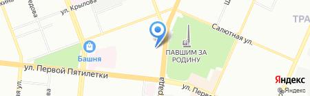 Чистый Сток на карте Челябинска