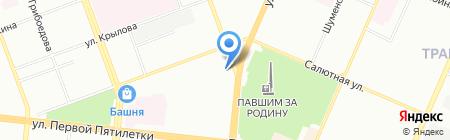Пивной бочонок на карте Челябинска