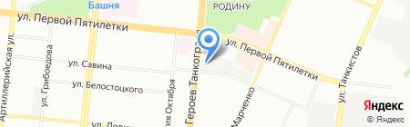 Автобаня на карте Челябинска