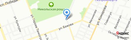 Ювента на карте Челябинска