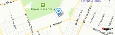 Продуктовый магазин в переулке Лермонтова на карте Челябинска