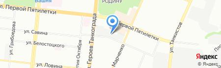 Совара на карте Челябинска
