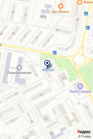 МАГАЗИН НАШ МАРКЕТ на карте Асбеста