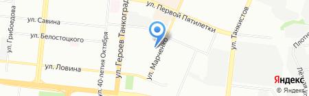 Конас на карте Челябинска