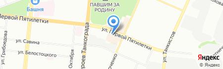 Хазина на карте Челябинска