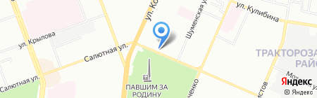 Кыштымский трикотаж на карте Челябинска