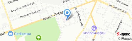Челябинский областной кардиологический диспансер на карте Челябинска