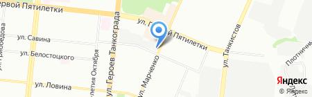 Клубничка на карте Челябинска