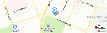 Магазин канцелярии на карте Челябинска