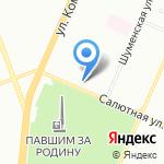 Стрелец на карте Челябинска