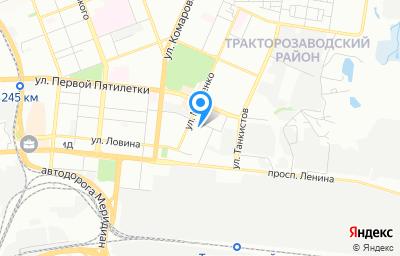 Местоположение на карте пункта техосмотра по адресу г Челябинск, ул Марченко, д 33А