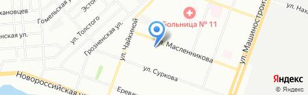 Итера на карте Челябинска
