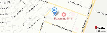 Лапоян на карте Челябинска
