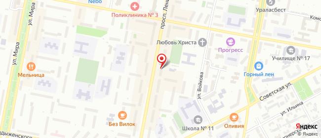 Карта расположения пункта доставки Westfalika в городе Асбест