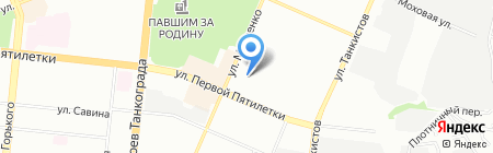 ЖЭУ №6 на карте Челябинска