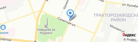 Парус на карте Челябинска