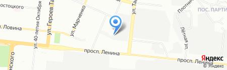 Флайкоат на карте Челябинска
