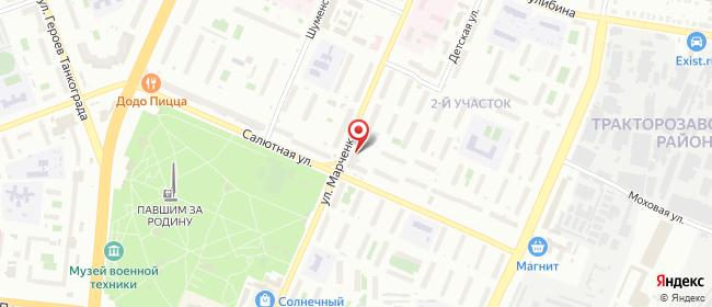 Карта расположения пункта доставки Челябинск Марченко в городе Челябинск