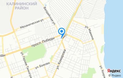 Местоположение на карте пункта техосмотра по адресу г Челябинск, ул Бажова, д 2А