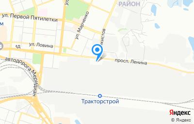 Местоположение на карте пункта техосмотра по адресу г Челябинск, пр-кт Ленина, д 3Е