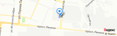 1А на карте Челябинска