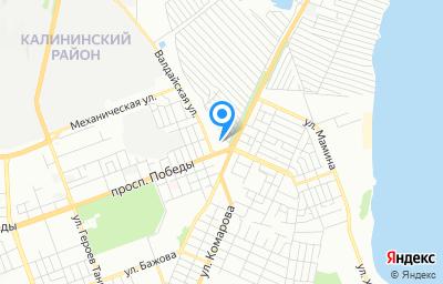 Местоположение на карте пункта техосмотра по адресу г Челябинск, пр-кт Победы, д 2Б