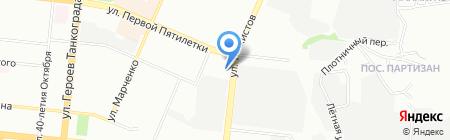 Томаг на карте Челябинска