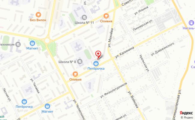 Карта расположения пункта доставки Халва в городе Асбест