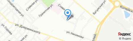 Антарес на карте Челябинска