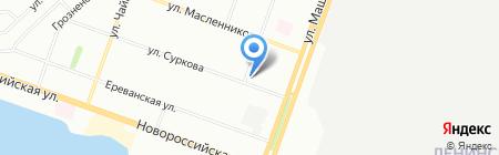 Расчёска на карте Челябинска