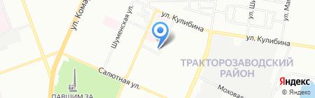 УЗДМ на карте Челябинска