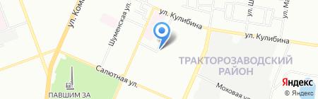 Владимирский хлеб на карте Челябинска