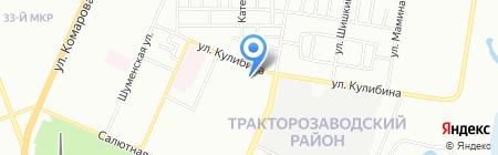 Детский сад №215 на карте Челябинска