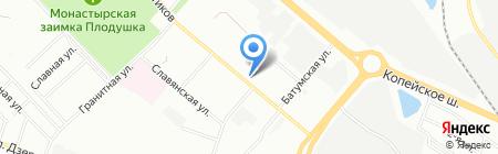 Нинамс на карте Челябинска