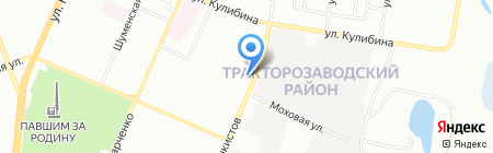 Продовольственный магазин на ул. Танкистов на карте Челябинска
