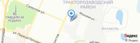 Ворота и ограждения на карте Челябинска