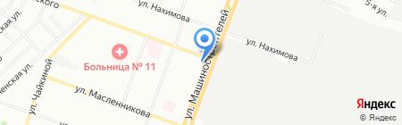 Каштан на карте Челябинска