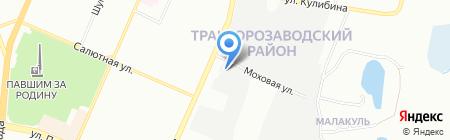 Метран на карте Челябинска
