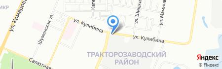 Волга-сервис на карте Челябинска