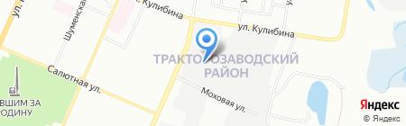 Авантаж на карте Челябинска