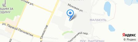 Бора 74 на карте Челябинска