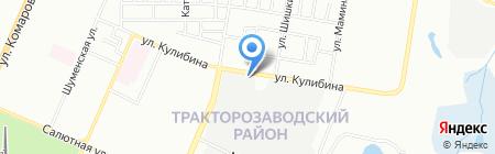 Южный Урал на карте Челябинска
